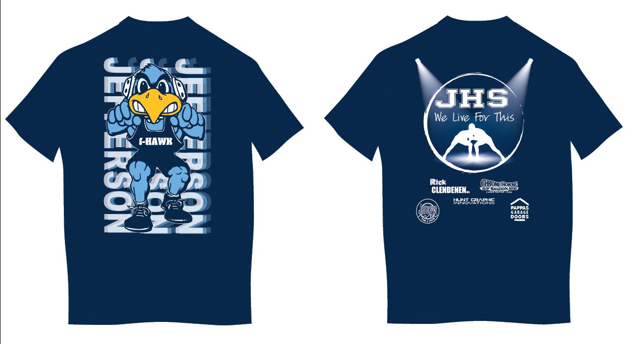 Hunt graphic innovations for High school wrestling shirt designs